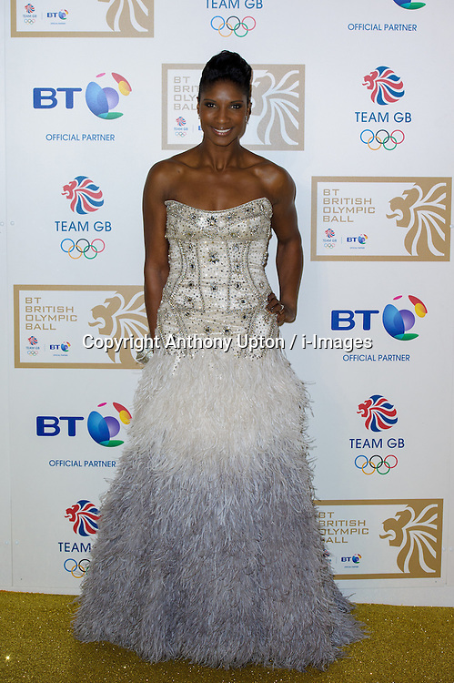 Densie Lewis during the BT Olympic Ball, held at the Grosvenor Hotel, London, UK, November 30, 2012. Photo By Anthony Upton / i-Images.