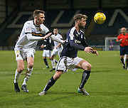 Dundee&rsquo;s Rory Loy and Dumbarton&rsquo;s Scott Taggart - Dundee v Dumbarton, William Hill Scottish Cup Fifth Round at Dens Park<br /> <br />  - &copy; David Young - www.davidyoungphoto.co.uk - email: davidyoungphoto@gmail.com