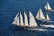 France Saint - Tropez October 2013, Classic yachts racing at the Voiles de Saint - Tropez<br /> <br /> C,CAG,SHENANDOAH OF SARK,54,GOELETTE AURIQUE/1902,T.E TERRIS