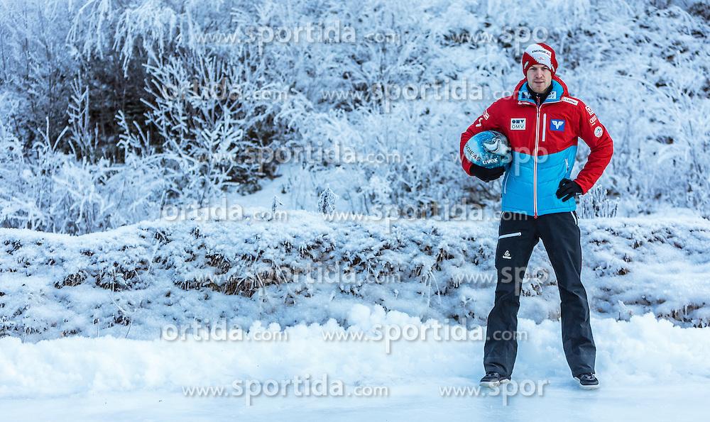 02.01.2017, Seefeld, AUT, FIS Weltcup Ski Sprung, Vierschanzentournee, Innsbruck, im Bild Michael Hayboeck (AUT) während eines Medientermins des ÖSV // Michael Hayboeck of Austria during a Media Event of the Austrian Skijumping Team before the 3rd Stage Insbruck of the Four Hills Tournament of FIS Ski Jumping World Cup at Seefeld, Austria on 2017/01/02. EXPA Pictures © 2017, PhotoCredit: EXPA/ JFK
