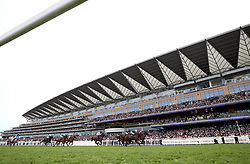 A general view of the action as Merchant Navy (front right) ridden by Jockey Ryan Lee Moore wins the Diamond Jubilee Stakes during day five of Royal Ascot at Ascot Racecourse.