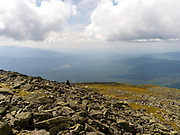 Looking west from the top of Mt. Washington, Sargent's Purchase, New Hampshire, USA.