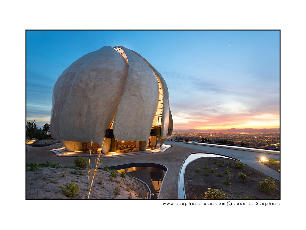 The modern avant garde architecture of The Bahá´í Temple of South America in Santiago de Chile