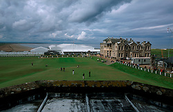 UK SCOTLAND ST ANDREWS 1-2JUN04 -  General view of the historic Old Course and the R & A clubhouse from a property for sale worth over £ 1.5 million due to its exclusive location. The Royal and Ancient Golf Club of St. Andrews, Fife, Scotland is celebrating its 250th anniversary this year and is the governing authority for the rules of the game in more than 100 affiliated nations and is responsible for the Open Championship and key amateur and international events. The R & A is also dedicated to the development of golf world-wide and is a leader in environmental and ecological research.......jre/Photo by Jiri Rezac....© Jiri Rezac 2004....Contact: +44 (0) 7050 110 417..Mobile:  +44 (0) 7801 337 683..Office:  +44 (0) 20 8968 9635....Email:   jiri@jirirezac.com..Web:     www.jirirezac.com....© All images Jiri Rezac 2004 - All rights reserved...