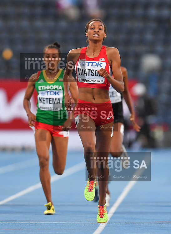 BYDGOSZCZ, POLAND - JULY 21: Samantha Watson of the USA wins the women's 800m final during the evening session on day 3 of the IAAF World Junior Championships at Zawisza Stadium on July 21, 2016 in Bydgoszcz, Poland. (Photo by Roger Sedres/Gallo Images)