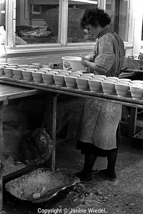 Aynsley pottery in Stoke on Trent Staffordshire