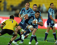 Blues no 8 Peter Saili. Super 15 rugby match - Hurricanes v Blues at Westpac Stadium, Wellington, New Zealand on Friday, 30 April 2011. Photo: Dave Lintott / photosport.co.nz