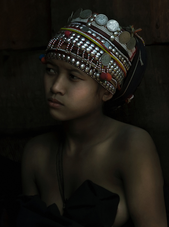 Akha girl, Luang Namtha, Laos.