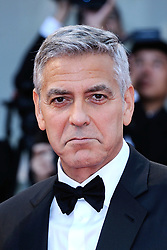Hollywood star George Clooney was treated in hospital on Tuesday for minor injuries after a scooter accident in Sardinia, Italy on July 10, 2018 ------------ George Clooney attending the Suburbicon Premiere during the 74th Venice International Film Festival (Mostra di Venezia) at the Lido, Venice, Italy on September 02, 2017. Photo by Aurore Marechal/ABACAPRESS.COM