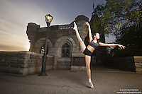 Dance As Art Central Park New York City Photo shoot with dancer Amarra Hong. Clothing by Energetiks.