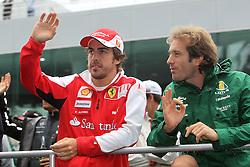 Motorsports / Formula 1: World Championship 2010, GP of Korea, 08 Fernando Alonso (ESP, Scuderia Ferrari Marlboro), 18 Jarno Trulli (ITA, Lotus F1 Racing),
