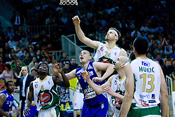 Brian Greene, Aleksej Laskevic, Miha Zupan, Marko Maravic  at third finals basketball match of Slovenian Men UPC League between KK Union Olimpija and KK Helios Domzale, on June 2, 2009, in Arena Tivoli, Ljubljana, Slovenia. Union Olimpija won 69:58 and became Slovenian National Champion for the season 2008/2009. (Photo by Vid Ponikvar / Sportida)