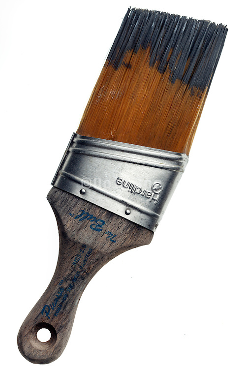 used paint brush with long bristle
