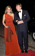 Copenhagen, 18-03-2015<br /> <br /> King Willem-Alexander and Queen Maxima offer an cultural evening with modern dance performed by ICKamsterdam to the Queen of Denmark at Black Diamond in Copenhagen, Denmark, 18 March 2015. The Dutch King and Queen are in Denmark for an two day state visit<br /> <br /> <br /> Photo: Bernard Ruebsamen/Royalportraits Europe