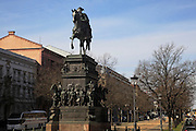 Germany Berlin Statue of Frederick II (1712 -1786)