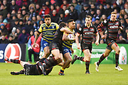 Rey Lee-Lo tries to make a break during the European Rugby Challenge Cup match between Edinburgh Rugby and Cardiff Blues at BT Murrayfield Stadium, Edinburgh, Scotland on 31 March 2018. Picture by Kevin Murray.