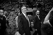 Giuliano Poletti e Matteo Orfini al Circolo degli artisti di Roma per partecipare al Left Wing. Roma, 11 giugno 2014. Christian Mantuano / OneShot