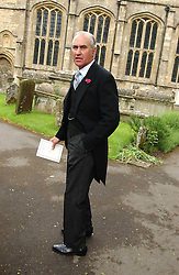 Father of the groom HUGH VAN CUTSEM snr. at the wedding of Hugh van Cutsem to Rose Astor in Burford, Oxfordshire on 4th June 2005.<br />