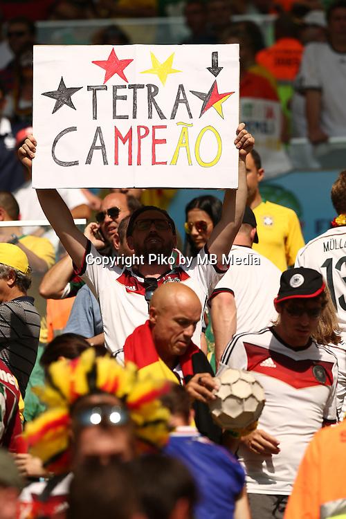 Fifa Soccer World Cup - Brazil 2014 - <br /> FRANCE (FRA) Vs. GERMANY (GER) - Quarter-finals - Estadio do MaracanaRio De Janeiro -- Brazil (BRA) - 04 July 2014 <br /> Here German fans.<br /> &copy; PikoPress