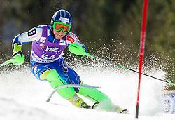 JAZBEC Patrickof Slovenia competes during 1st Run of Men's Slalom - Pokal Vitranc 2012 of FIS Alpine Ski World Cup 2011/2012, on March 11, 2012 in Vitranc, Kranjska Gora, Slovenia.  (Photo By Vid Ponikvar / Sportida.com)