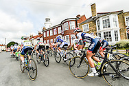 Southwold, UK: June, 15, 2016 The peloton leaves Southwold during stage one of the 2016 Aviva Women's Tour from Southwold to Norwich.