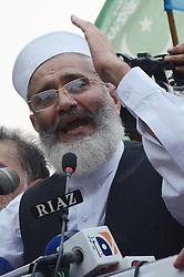 July 31, 2017 - Lahore, Punjab, Pakistan - Senator SIRAJUL HAQ, leader of Jamaat-e-Islami Pakistan addressing a public gathering at Mall Road in Lahore. (Credit Image: © Rana Sajid Hussain/Pacific Press via ZUMA Wire)