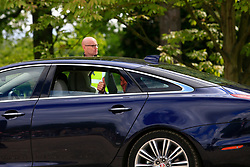 UK ENGLAND ENGLEFIELD 20MAY17 - Mr Matthews, father of the groom leaves with a thumbs up after the Pippa Middleton & James Matthews wedding ceremony at St Mark's church on the Englefield Estate in West Berkshire, England.<br /> <br /> jre/Photo by Jiri Rezac<br /> <br /> © Jiri Rezac 2017