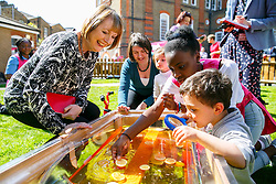 © Licensed to London News Pictures. 15/04/2015. LONDON, UK. Labour Party's Shadow Deputy Prime Minister, Harriet Harman meeting mothers and children at Stockwell Gardens Nursery in south London to launch Labour's Women's Manifesto on Wednesday, 15 April 2015. Photo credit : Tolga Akmen/LNP