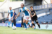 Blackburn Rovers defender Lewis Travis in action during the EFL Sky Bet Championship match between Blackburn Rovers and Bristol City at Ewood Park, Blackburn, England on 20 June 2020.