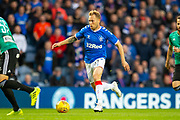 Scott Arfield (#37) of Rangers FC breaks forward during the Europa League Play Off leg 2 of 2 match between Rangers FC and Legia Warsaw at Ibrox Stadium, Glasgow, Scotland on 29 August 2019.