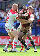 Samisoni Langi of Catalans Dragons in action against St Helens during the Ladbrokes Challenge Cup Semi Final match at the Macron Stadium Stadium, Bolton.<br /> Picture by Michael Sedgwick/Focus Images Ltd +44 7900 363072<br /> 05/08/2018
