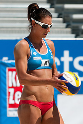 Angela Akers of USA at A1 Beach Volleyball Grand Slam tournament of Swatch FIVB World Tour 2011, on August 2, 2011 in Klagenfurt, Austria. (Photo by Matic Klansek Velej / Sportida)