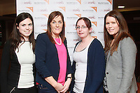 Cliona Standún chairperson of Network, with Patricia Ní Chongahaile, Fiona NíFhátharta and Linda McGarry at the screening of Girl Rising hosted by World Vision at An Taibhdearc on Thursday night. Photo:- Andrew Downes.