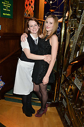 Left to right, SOPHIE McSHERA and LAURA CARMICHAEL at One Night Only at The Ivy in aid of Acting For Others supported by Tanqueray No.TEN Gin at The Ivy, 1-5 West Street, London on 1st December 2013.