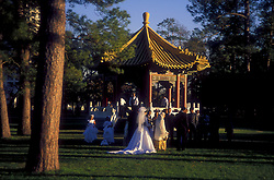 Stock photo of a wedding at the The Chinese Pavilion in Hermann Park