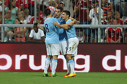01.08.2013, Allianz Arena, Muenchen, Audi Cup 2013, FC Bayern Muenchen vs Manchester City, im Bild l-r: Samir NASRI #8 (Manchester City), Alvaro NEGREDO #9 (Manchester City) und Pablo ZABALETA #5 (Manchester City) // during the Audi Cup 2013 match between FC Bayern Muenchen and Manchester City at the Allianz Arena, Munich, Germany on 2013/08/01. EXPA Pictures &copy; 2013, PhotoCredit: EXPA/ Eibner/ Christian Kolbert<br /> <br /> ***** ATTENTION - OUT OF GER *****