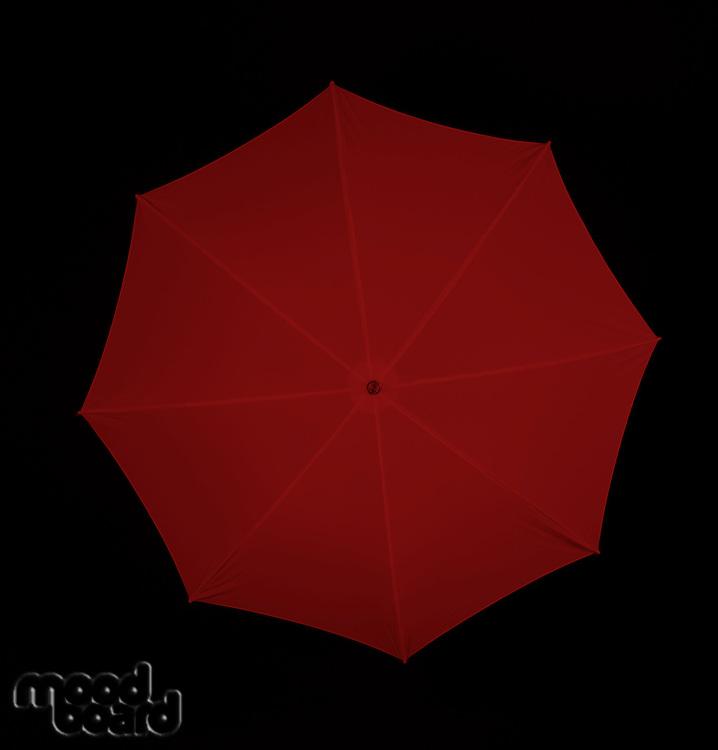 Studio shot of umbrella - close-up