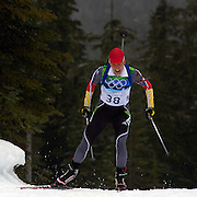 Winter Olympics, Vancouver, 2010. Kati Wilhelm, Germany, in action during the Women's 7.5 KM Sprint Biathlon at The Whistler Olympic Park, Whistler, during the Vancouver  Winter Olympics. 13th February 2010. Photo Tim Clayton