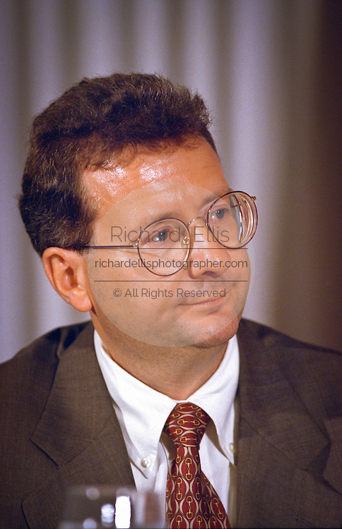 Gregory Bentley, CEO of Bentley Systems attends a press conference by the Business Software Alliance June 16, 1999 in Washington, DC.