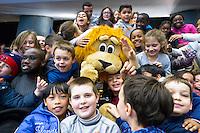 Supporters / Mascotte Issy Paris - 04.03.2015 - Issy Paris / Le Havre - 16eme journee de D1<br /> Photo : Andre Ferreira / Icon Sport