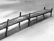 The Old Dock on Frozen Pond