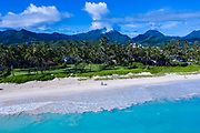 Aerial photograph of Kailua Beach, Oahu, Hawaii