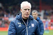 Ipswich Town Manager Mick McCarthy during the EFL Sky Bet Championship match between Brentford and Ipswich Town at Griffin Park, London, England on 7 April 2018. Picture by Andy Walter.