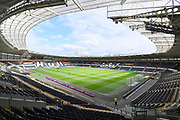 A general view inside Hull City KCOM stadium before the EFL Sky Bet Championship match between Hull City and Bristol City at the KCOM Stadium, Kingston upon Hull, England on 5 May 2019.