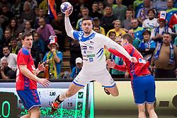 Gregor Potocnik of Slovenia during Handball friendly match before EURO 2018 between Slovenia and Serbia, on January 10, 2018 in Rdeca dvorana, Velenje, Slovenia. Photo by Urban Urbanc / Sportida