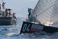 Mean Machine rounds the top mark during Race 3 of the AUDI Medcup in Cagliari