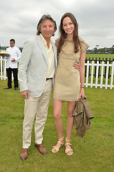 LEON & YANA MAX at the Cartier Queen's Cup Polo final at Guard's Polo Club, Smiths Lawn, Windsor Great Park, Egham, Surrey on 14th June 2015