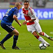 NLD/Amsterdam/20100731 - Wedstrijd om de JC schaal 2010 tussen Ajax - FC Twente, Toby Alderweireld in duel met Emir Bajrami
