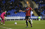 Chris O'Grady, Brighton striker scores from the penalty spot  during the Sky Bet Championship match between Reading and Brighton and Hove Albion at the Madejski Stadium, Reading, England on 10 March 2015.