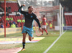 Aiden McGeady of Sheffield Wednesday celebrates scoring his sides first goal - Mandatory byline: Jack Phillips/JMP - 12/03/2016 - FOOTBALL - The City Ground - Nottingham, England - Nottingham Forest v Sheffield Wednesday - Sky Bet Championship